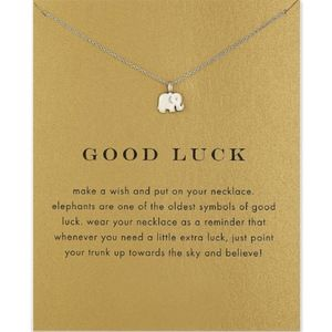 """Jewelry - Elephant """"Make A Wish"""" Good Luck Necklace"""